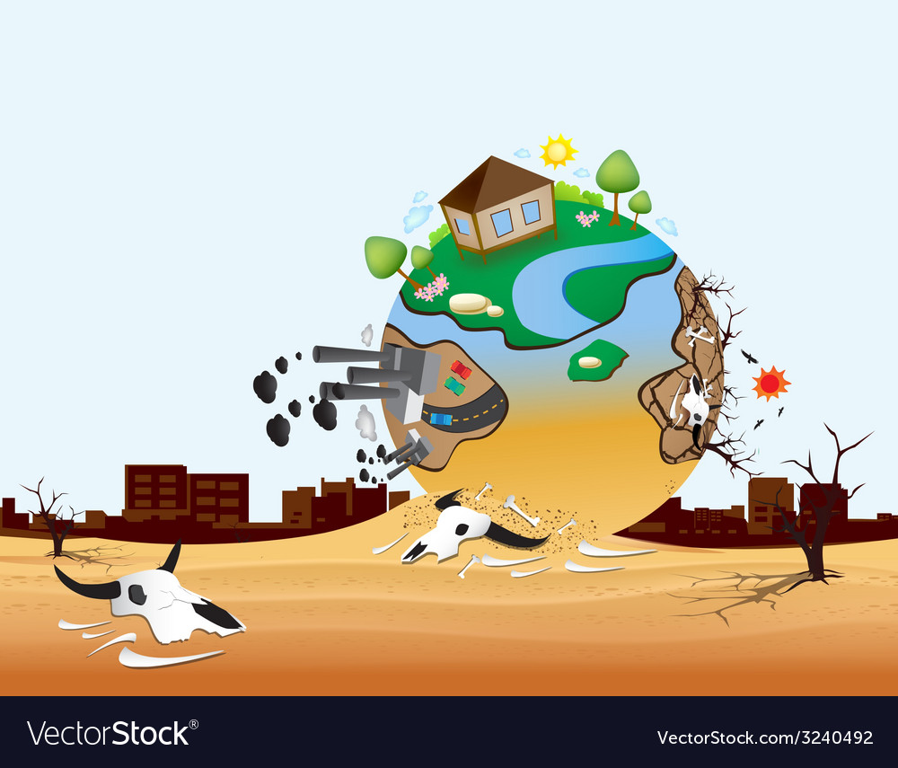 Global warming design 09 vector | Price: 1 Credit (USD $1)