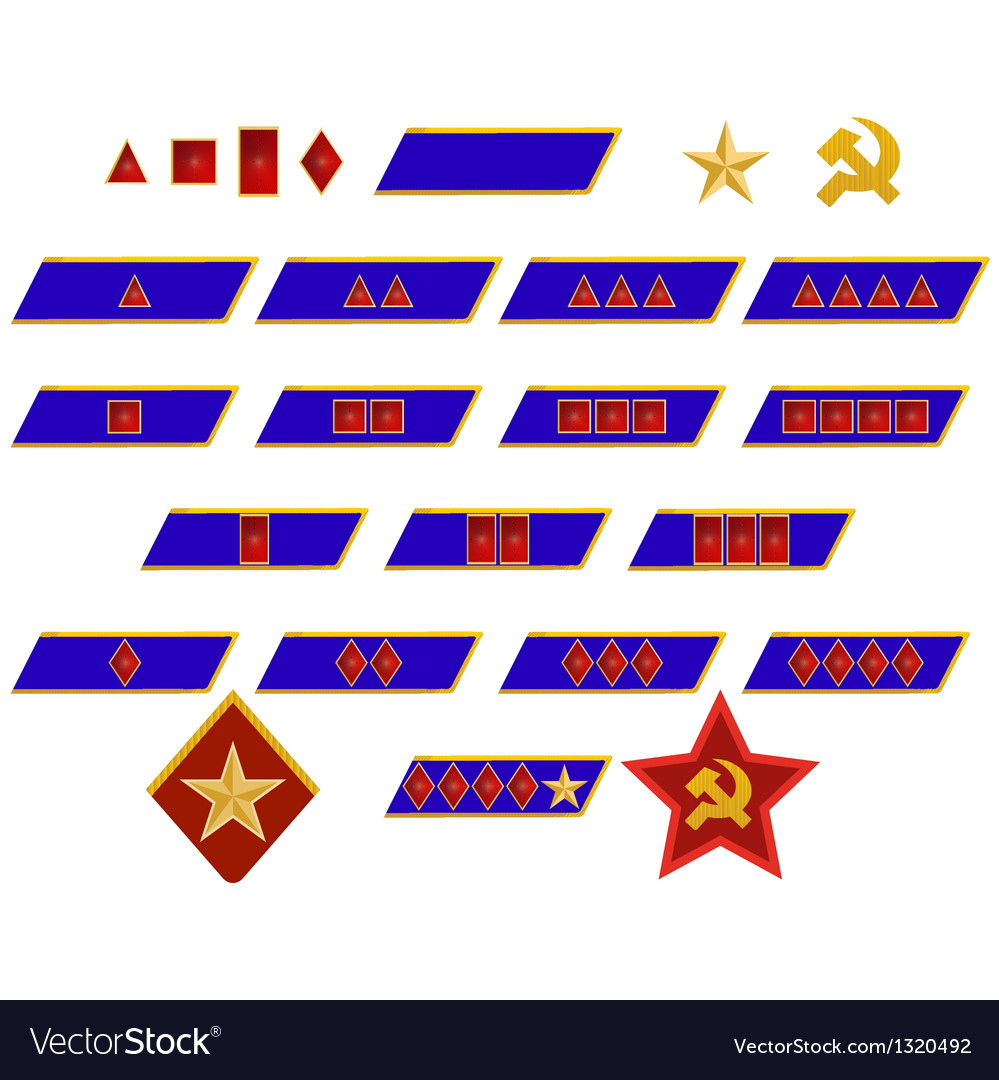 Insignia of the workers and peasants red arm vector | Price: 1 Credit (USD $1)