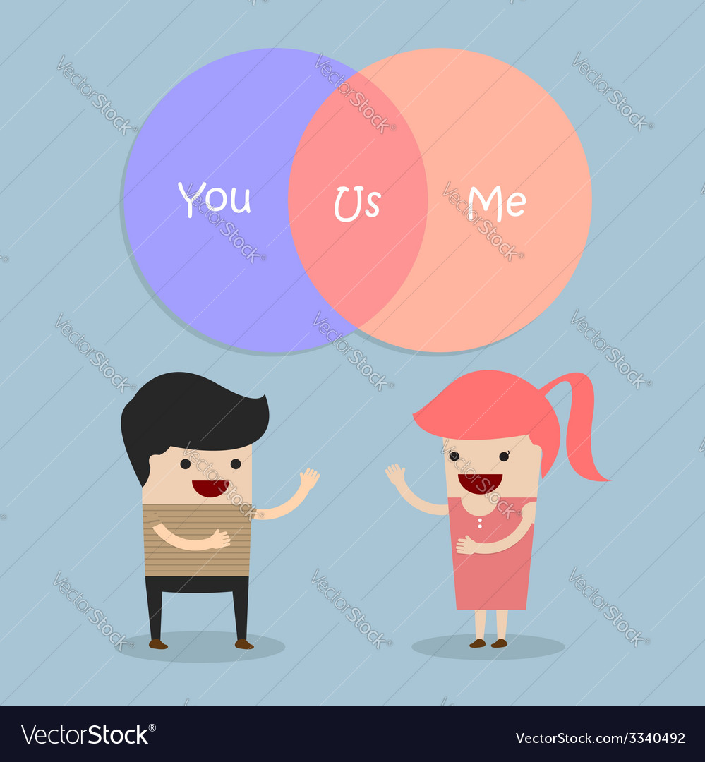 Man and woman talking about their relationship vector | Price: 1 Credit (USD $1)