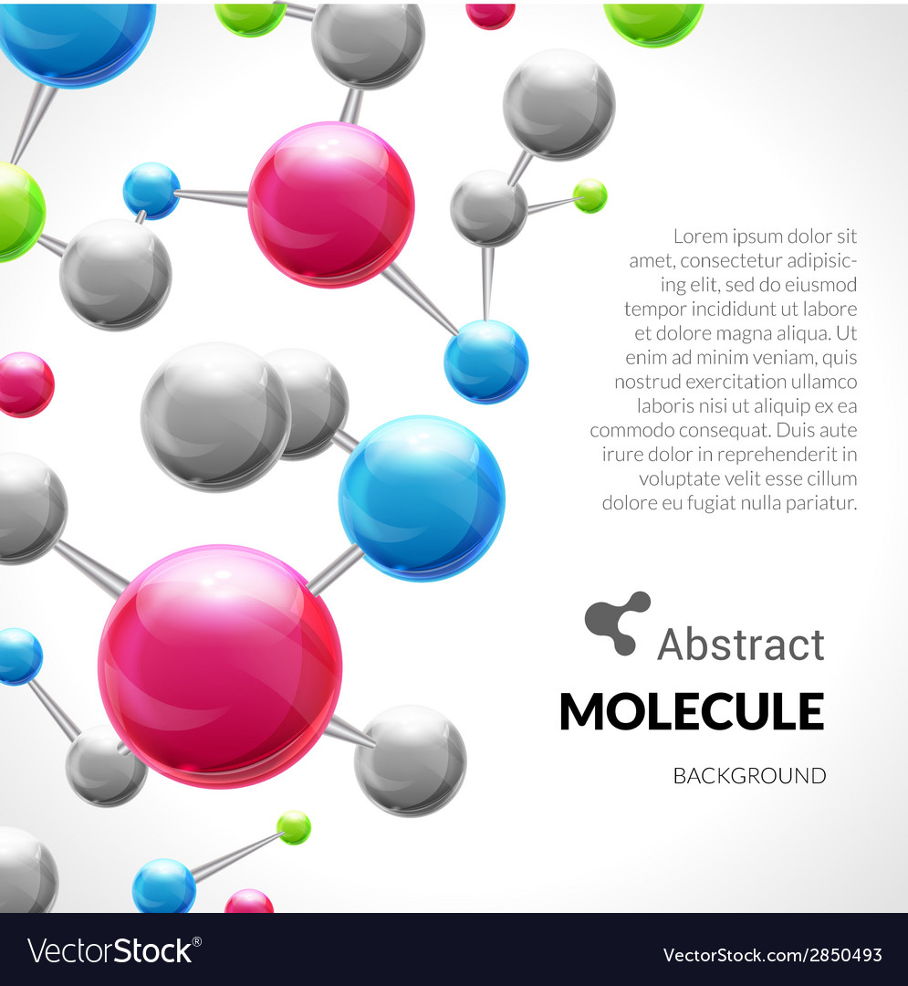 Abstract molecule 3d background vector | Price: 1 Credit (USD $1)
