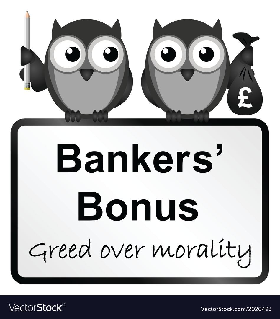 Bankers bonuses vector | Price: 1 Credit (USD $1)