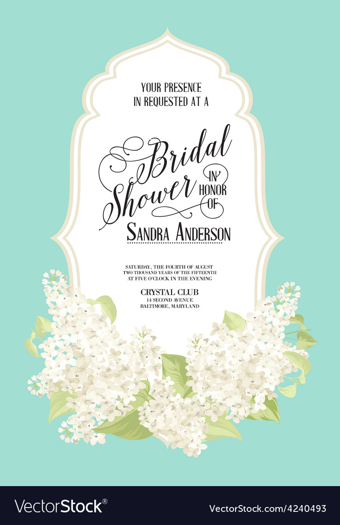 Bridal shower card vector | Price: 1 Credit (USD $1)