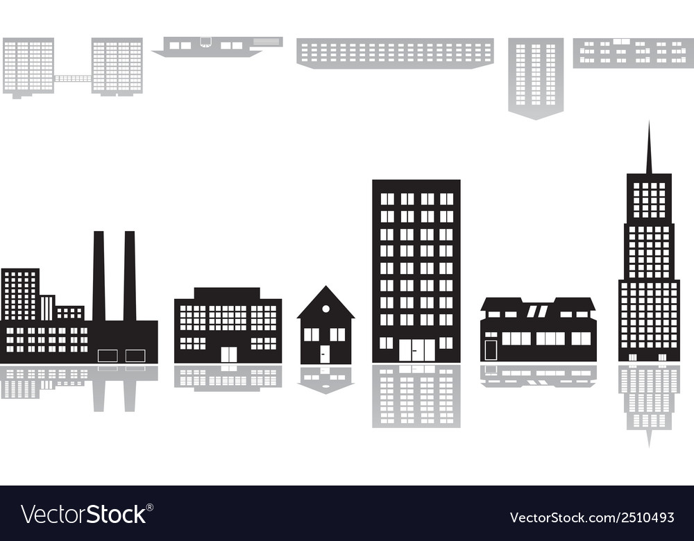 Buildings and houses icons eps10 vector | Price: 1 Credit (USD $1)