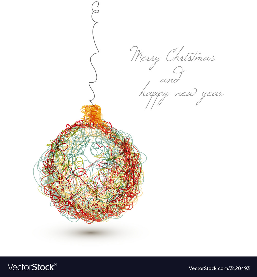 Christmas decoration - continuous line drawing vector | Price: 1 Credit (USD $1)