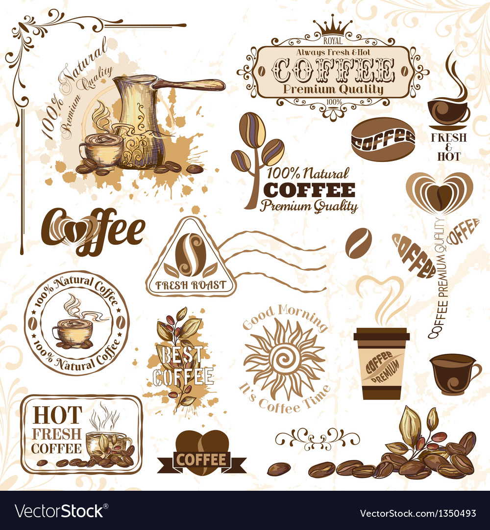 Coffee design elements vector | Price: 3 Credit (USD $3)