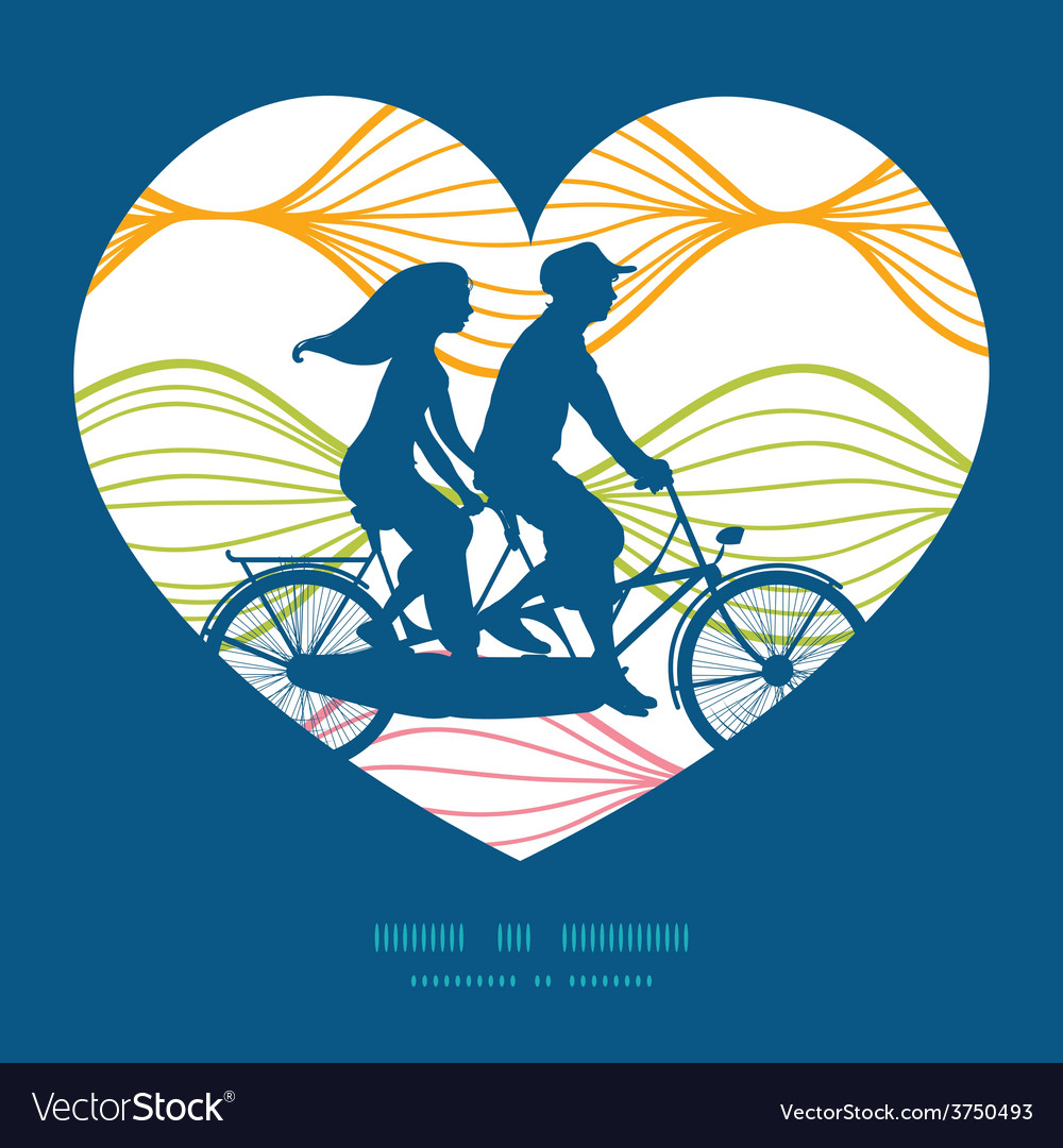 Colorful horizontal ogee couple on tandem vector | Price: 1 Credit (USD $1)