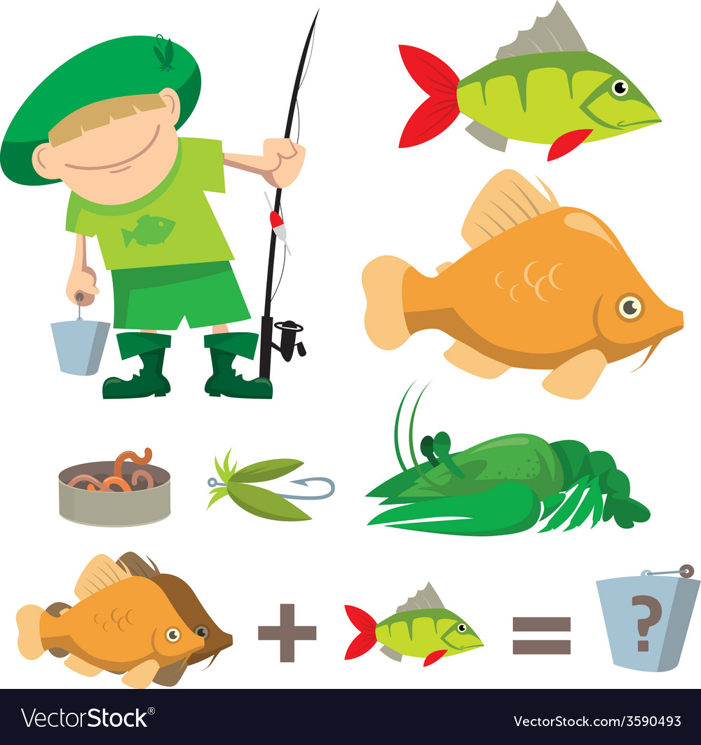 Fisherman trophy vector | Price: 1 Credit (USD $1)