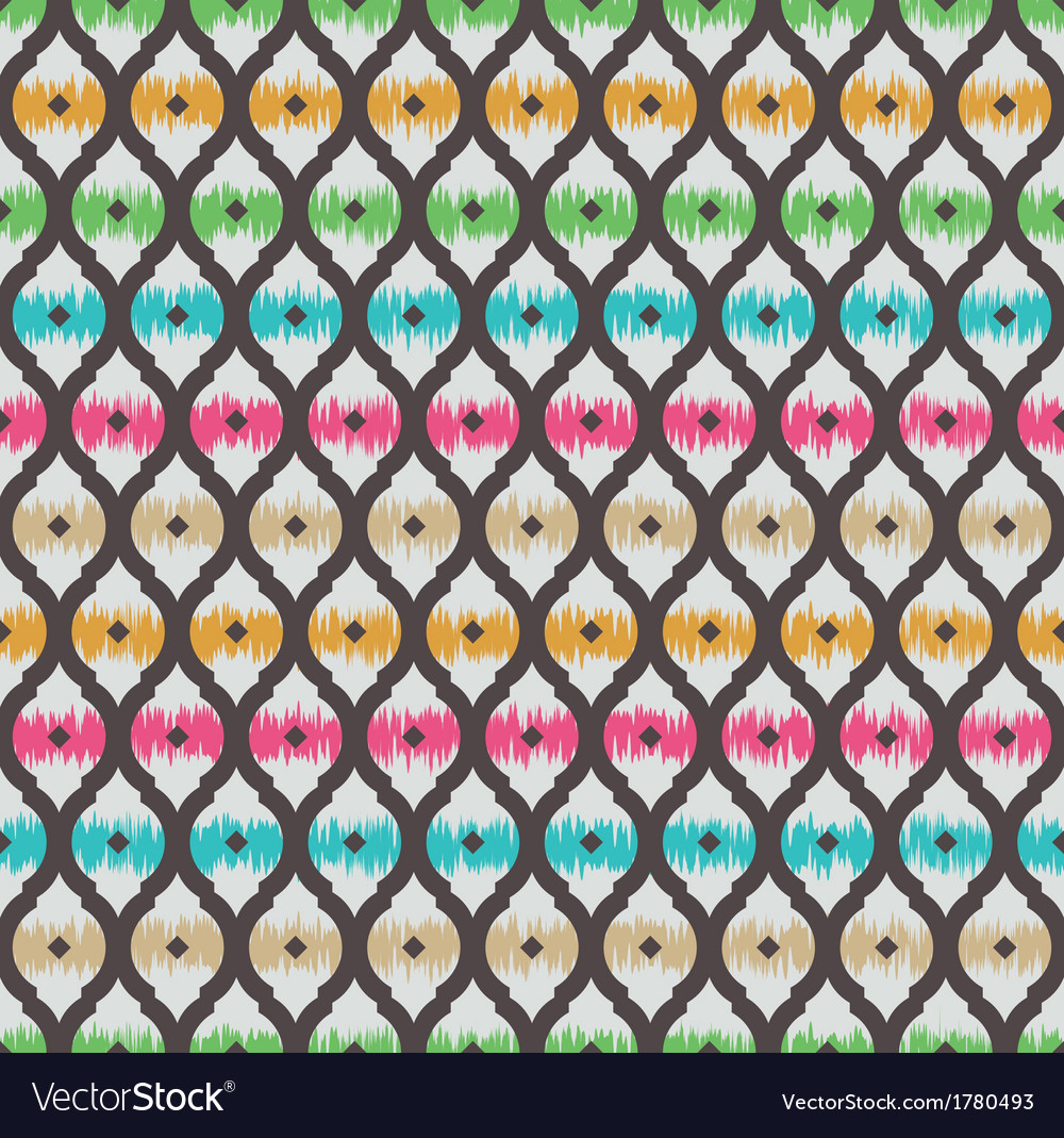 Ikat seamless pattern vector | Price: 1 Credit (USD $1)
