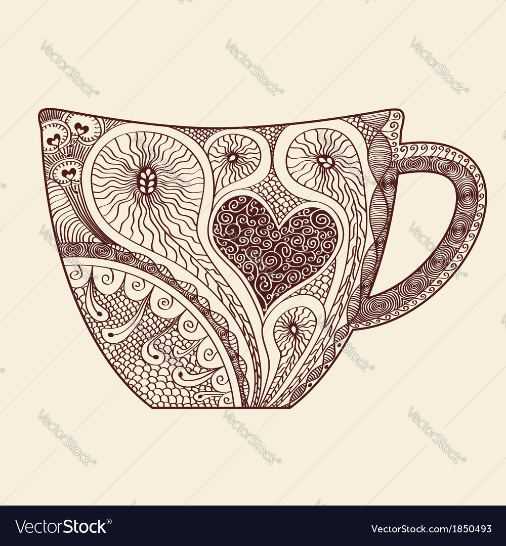 Patterned cup vector | Price: 1 Credit (USD $1)