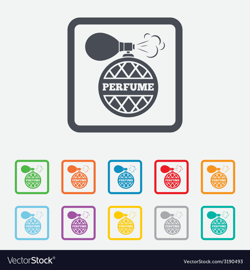 Perfume bottle sign icon glamour fragrance vector | Price: 1 Credit (USD $1)