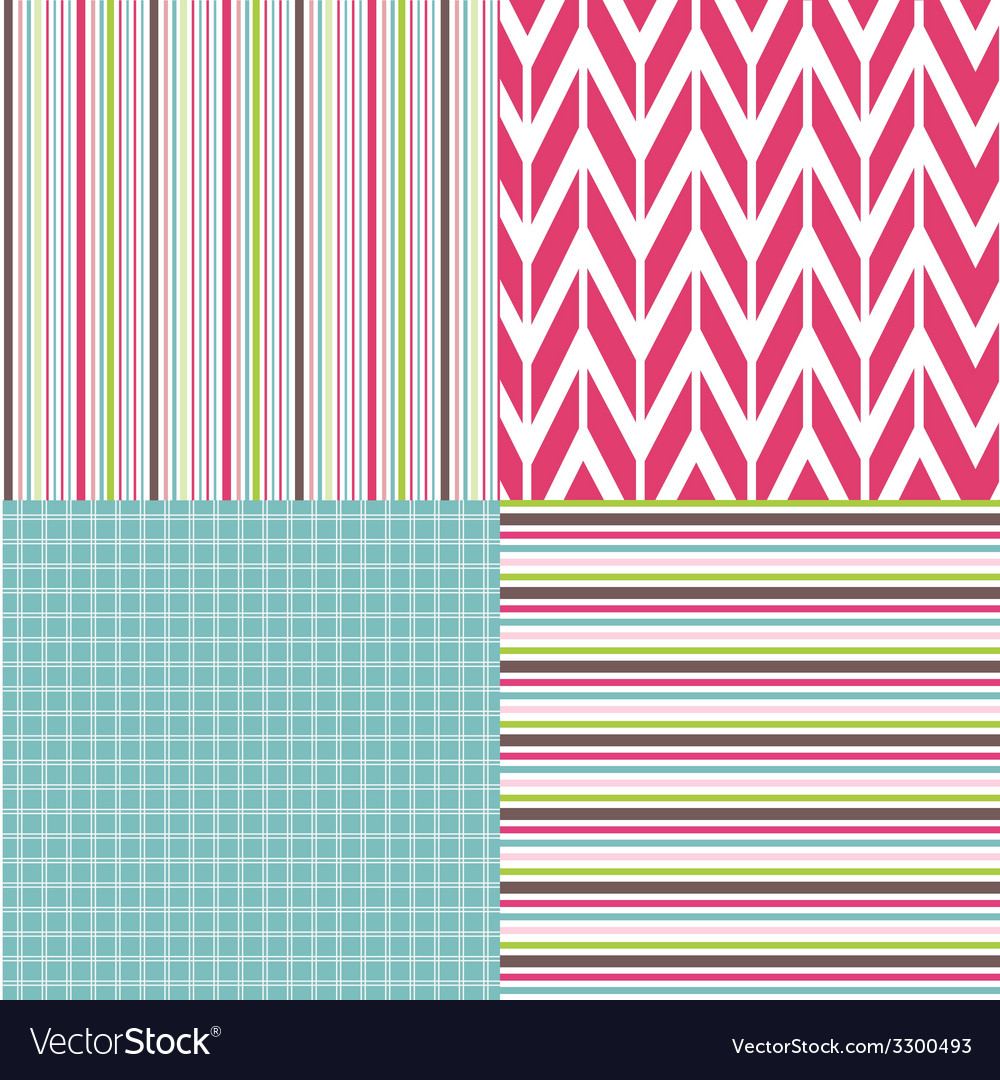 Set of seamless patterns vector | Price: 1 Credit (USD $1)