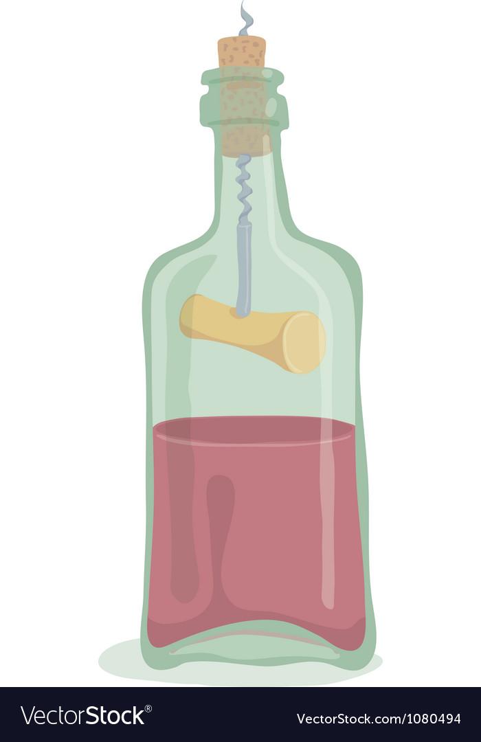 Half bottle of wine vector   Price: 1 Credit (USD $1)