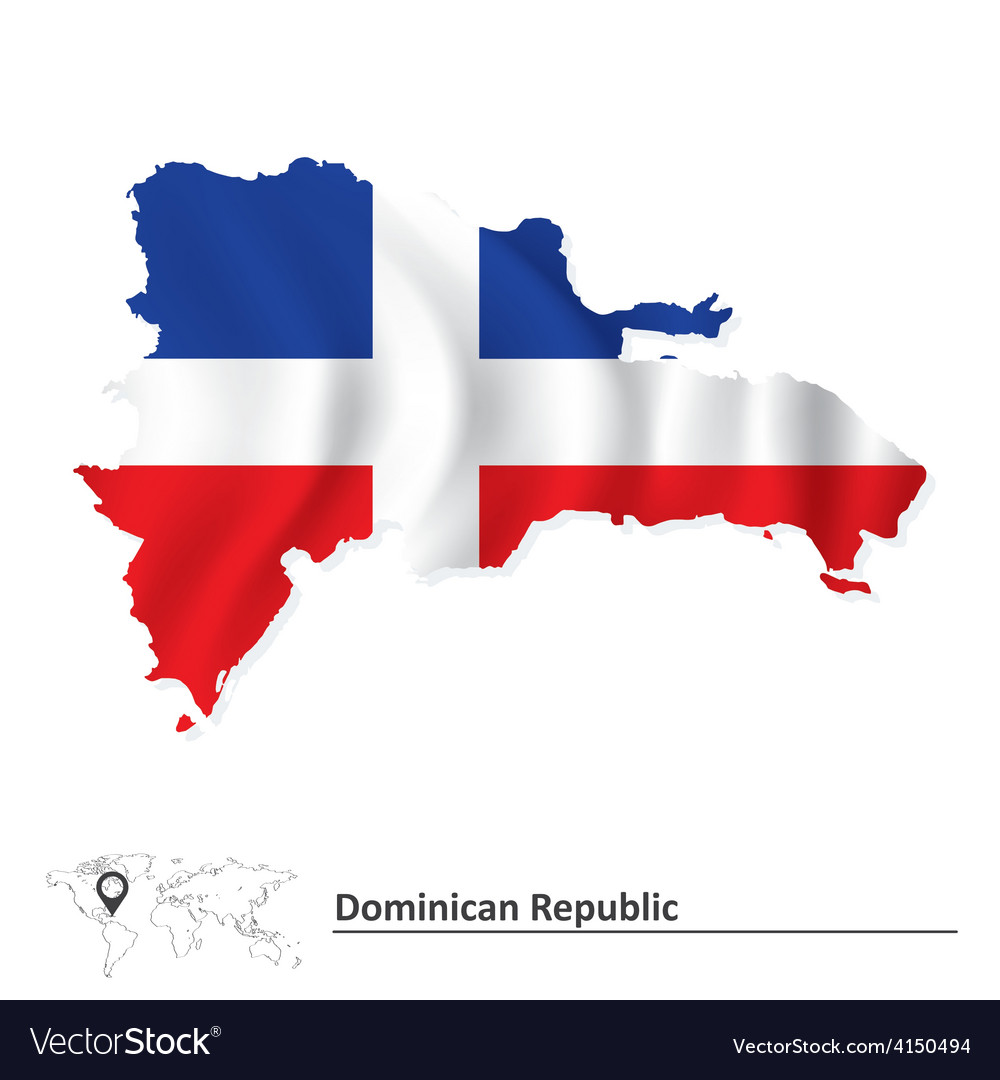 Map of dominican republic vector | Price: 1 Credit (USD $1)