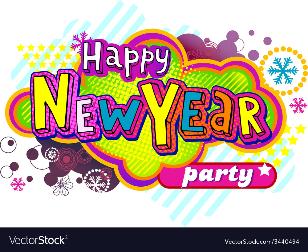 New year party banner vector | Price: 1 Credit (USD $1)