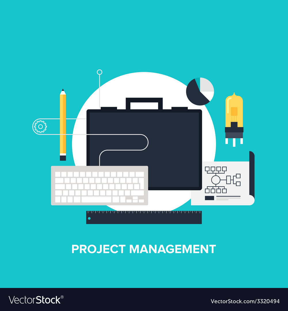 Project management vector | Price: 1 Credit (USD $1)