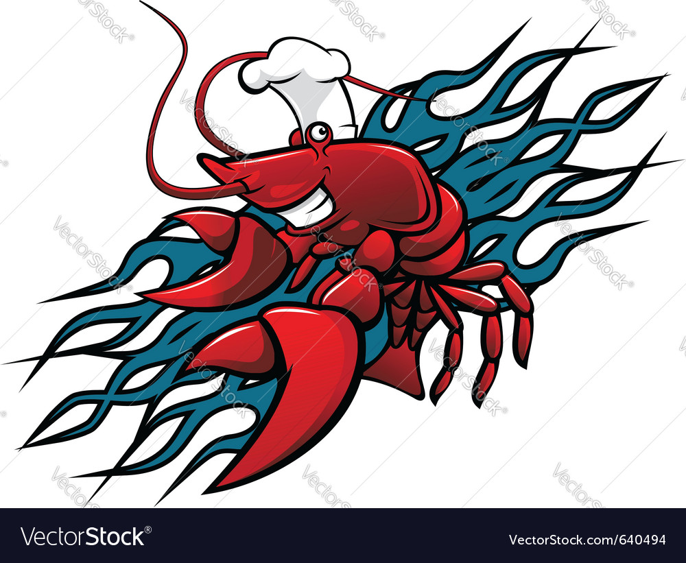 Red prawn vector | Price: 1 Credit (USD $1)