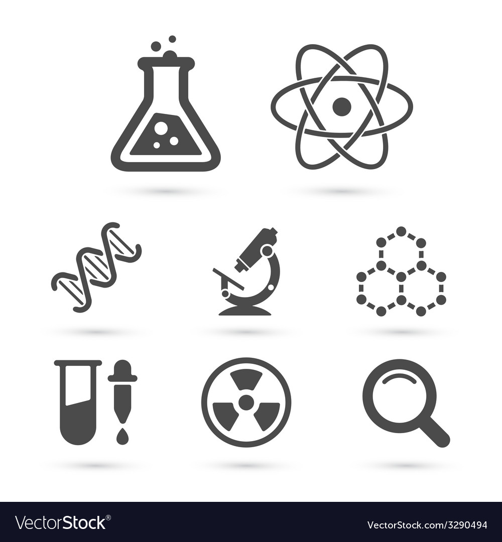 Science trendy icons pack elements vector | Price: 1 Credit (USD $1)