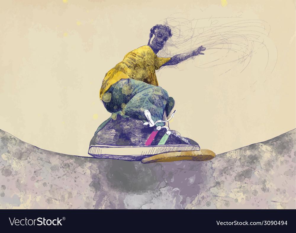 Skateboarder vector   Price: 1 Credit (USD $1)