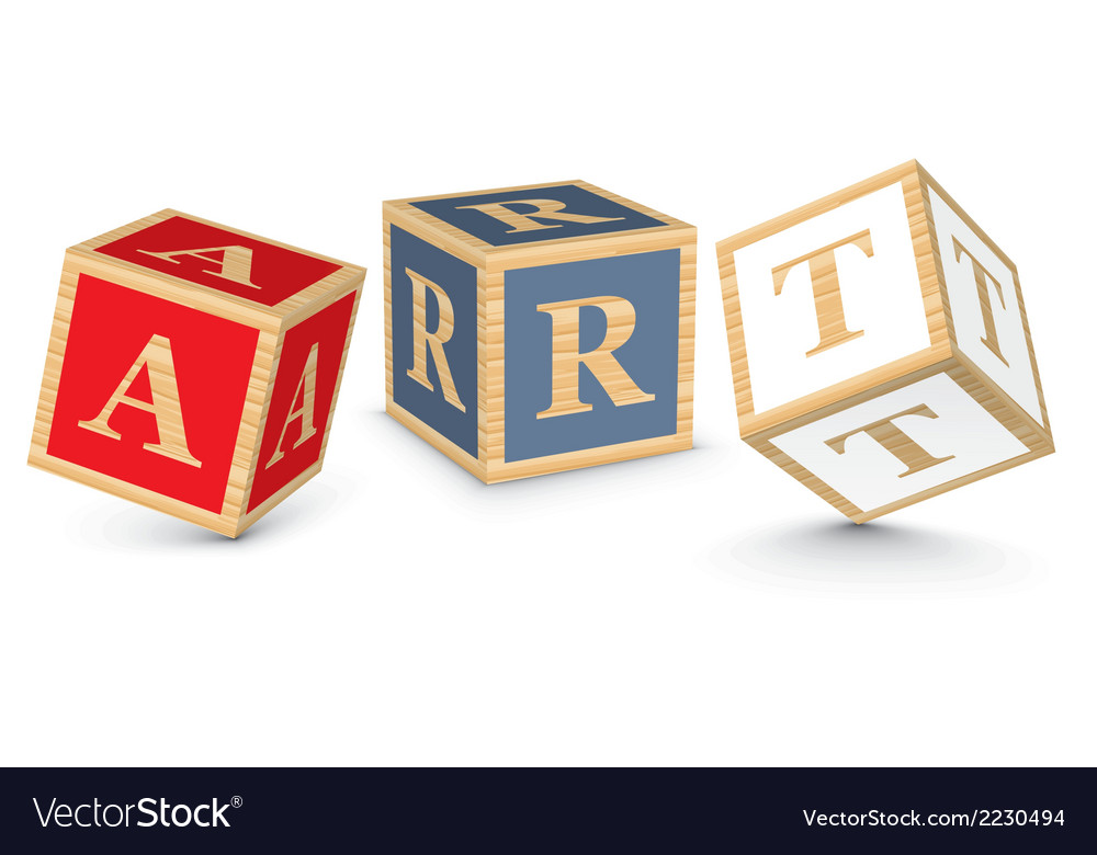 Word art written with alphabet blocks vector | Price: 1 Credit (USD $1)