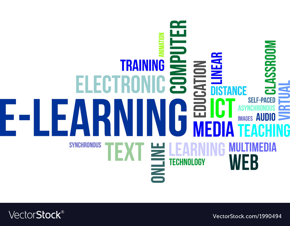 Word cloud elearning vector | Price: 1 Credit (USD $1)