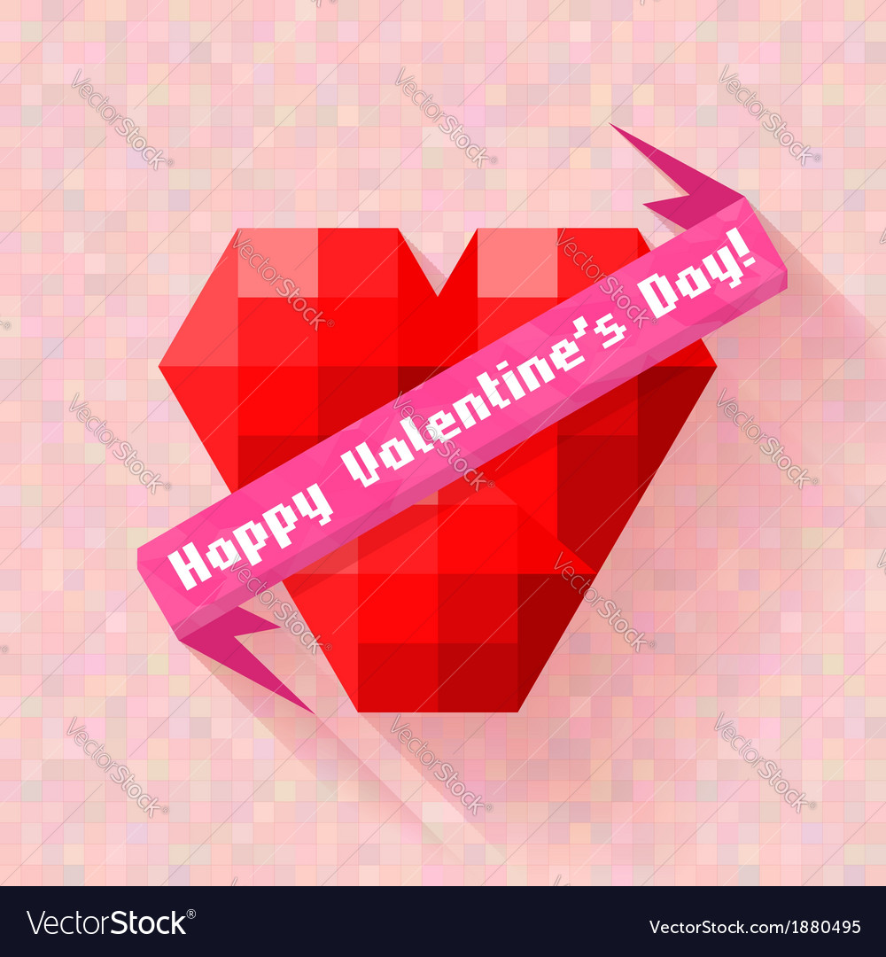 Abstract heart banner valentine day vector | Price: 1 Credit (USD $1)