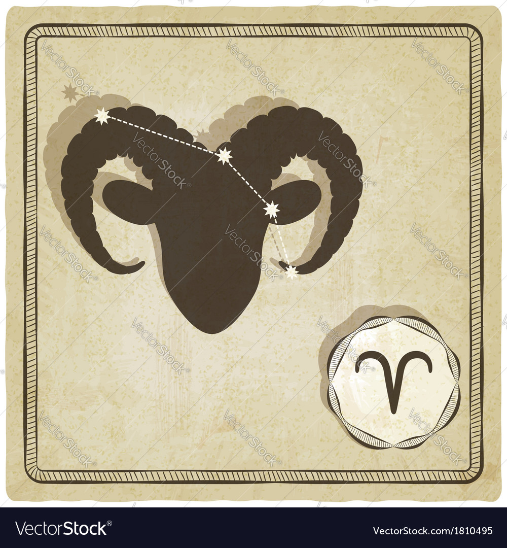 Astrological sign - aries vector | Price: 1 Credit (USD $1)