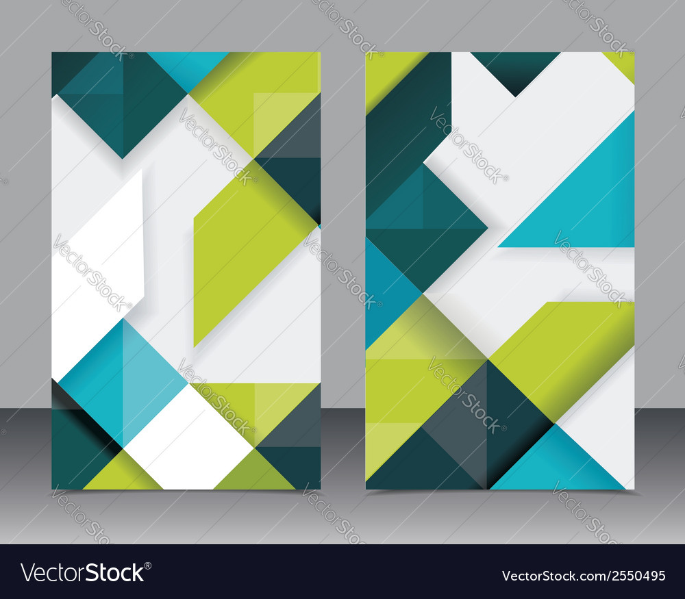 Brochure template design with cubes and arrows vector   Price: 1 Credit (USD $1)