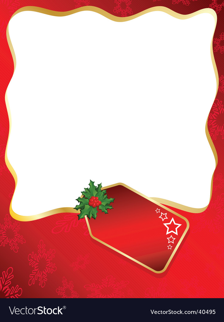 Christmas label background vector | Price: 1 Credit (USD $1)