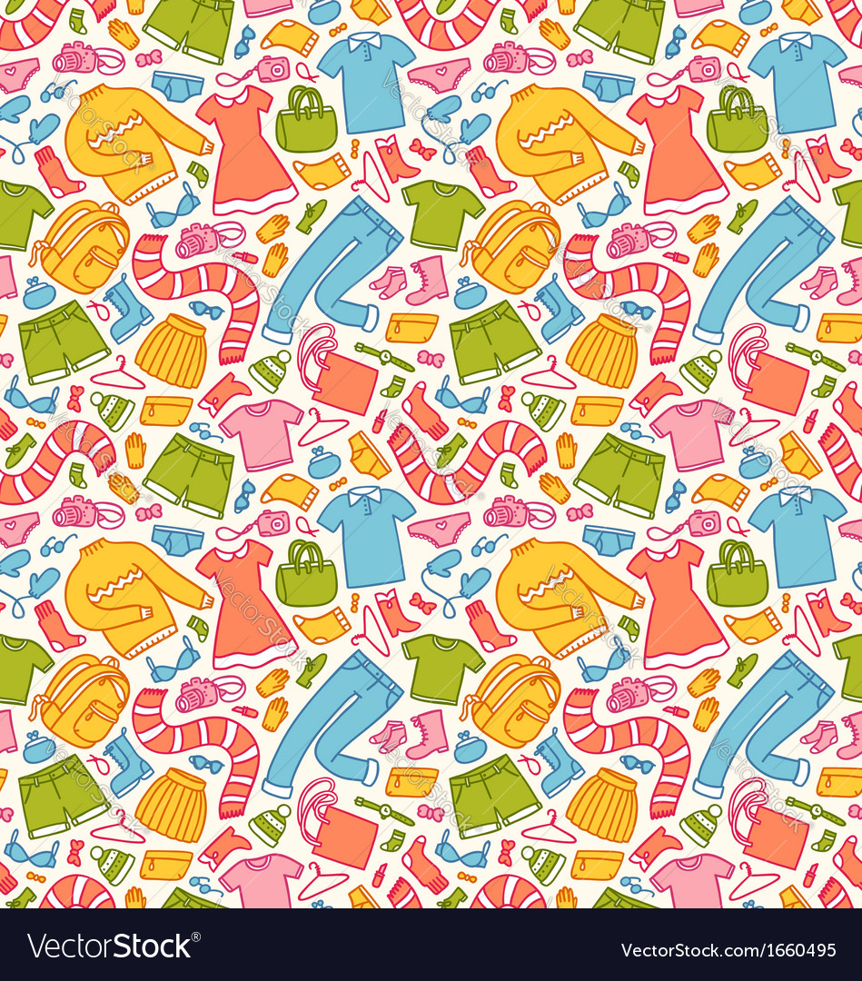 Clothes pattern in color vector | Price: 1 Credit (USD $1)