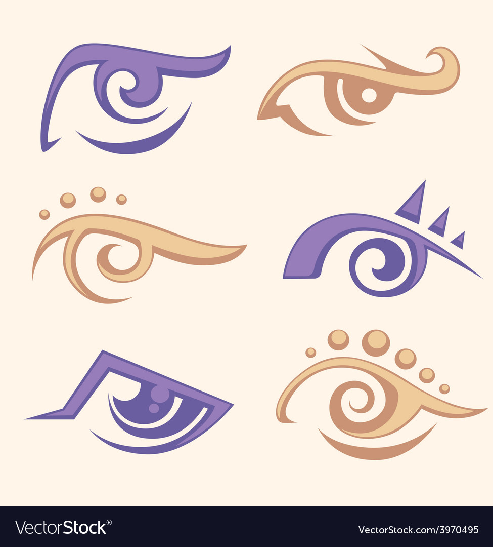 Eye collection vector | Price: 1 Credit (USD $1)