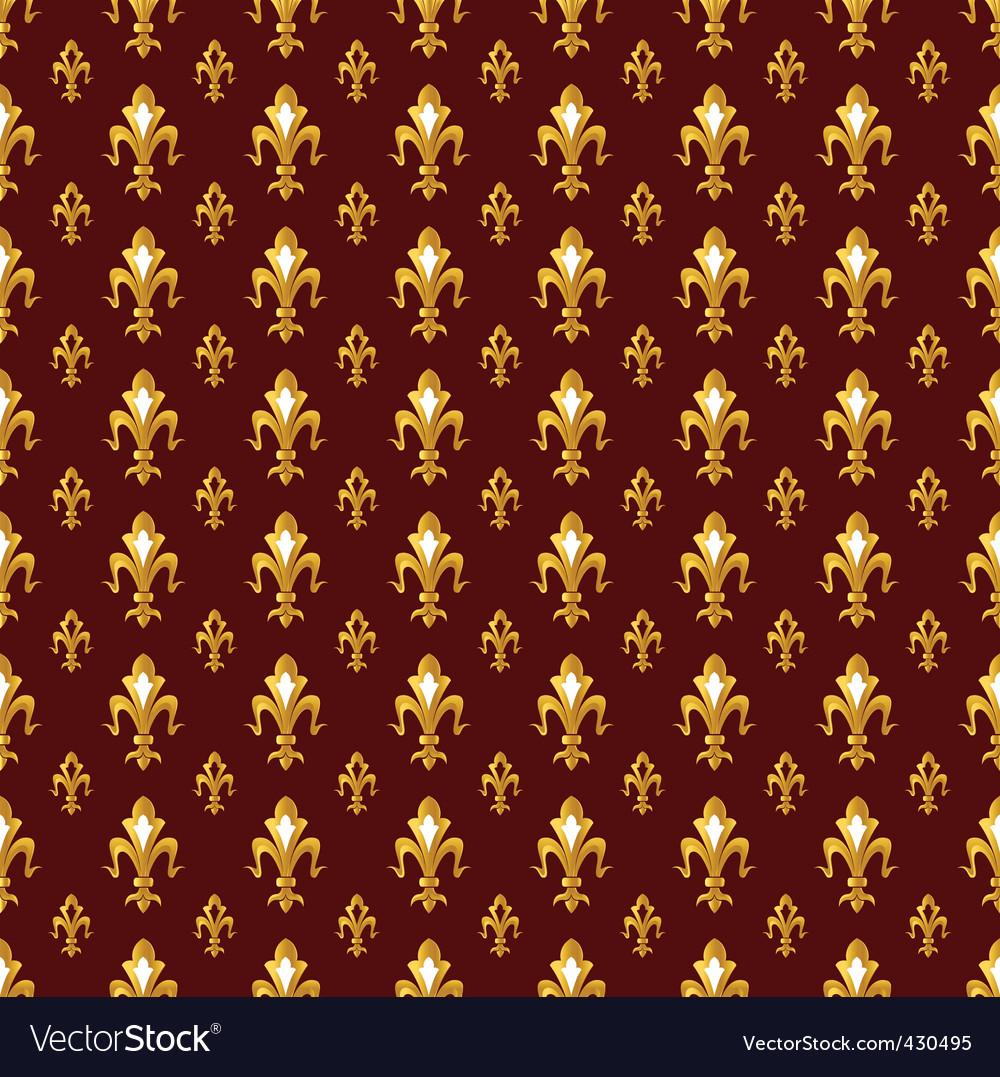 Fleur de lis pattern vector | Price: 1 Credit (USD $1)