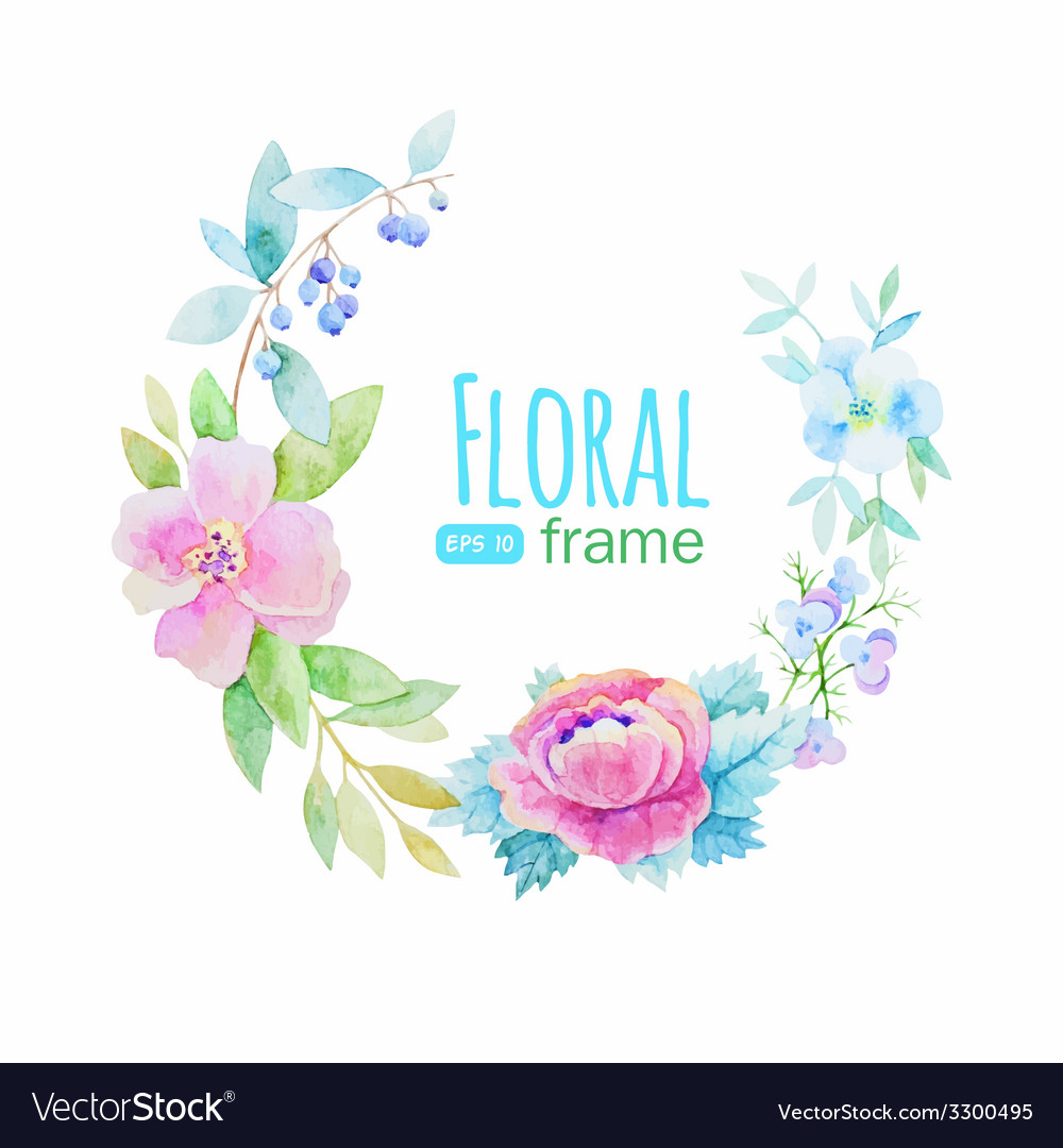 Flowers frame vector | Price: 1 Credit (USD $1)