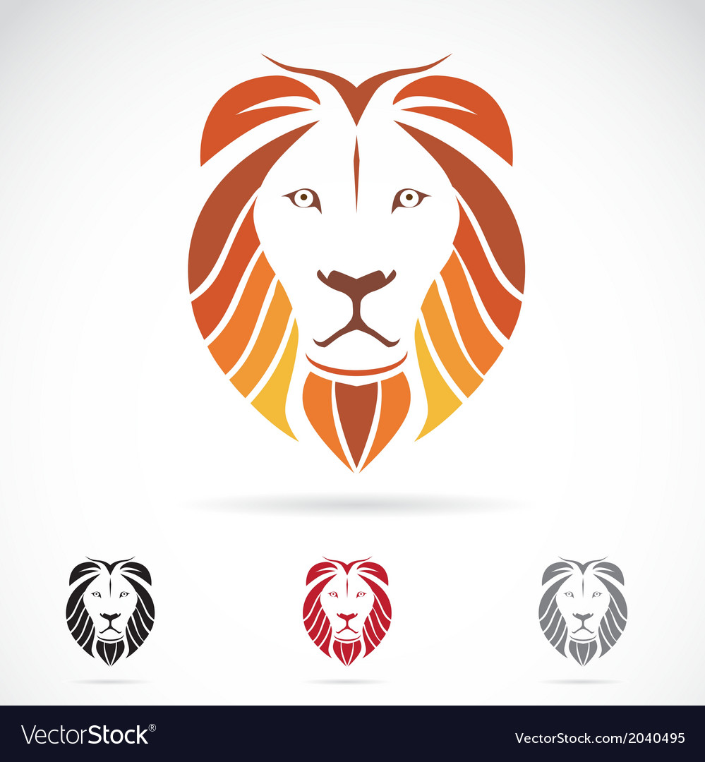 Image of an lion head vector | Price: 1 Credit (USD $1)