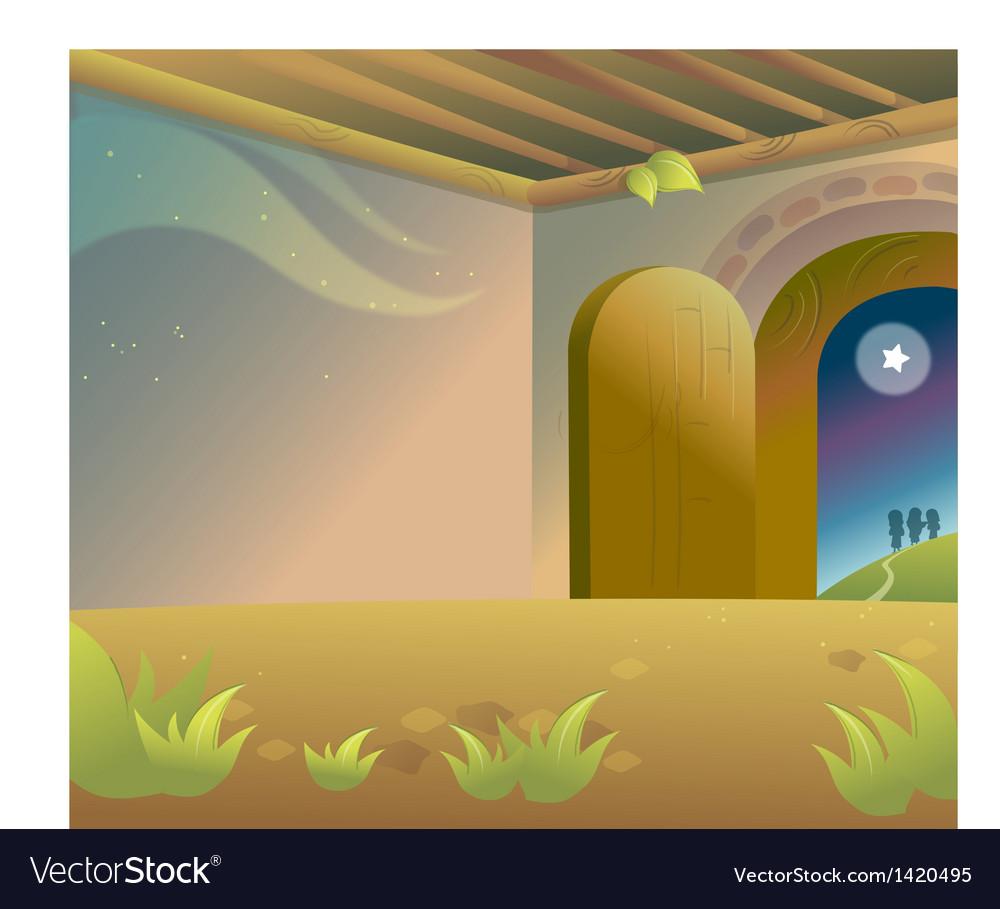 Interior of empty house vector | Price: 1 Credit (USD $1)