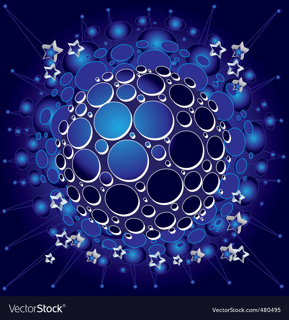 Night galaxy vector | Price: 3 Credit (USD $3)