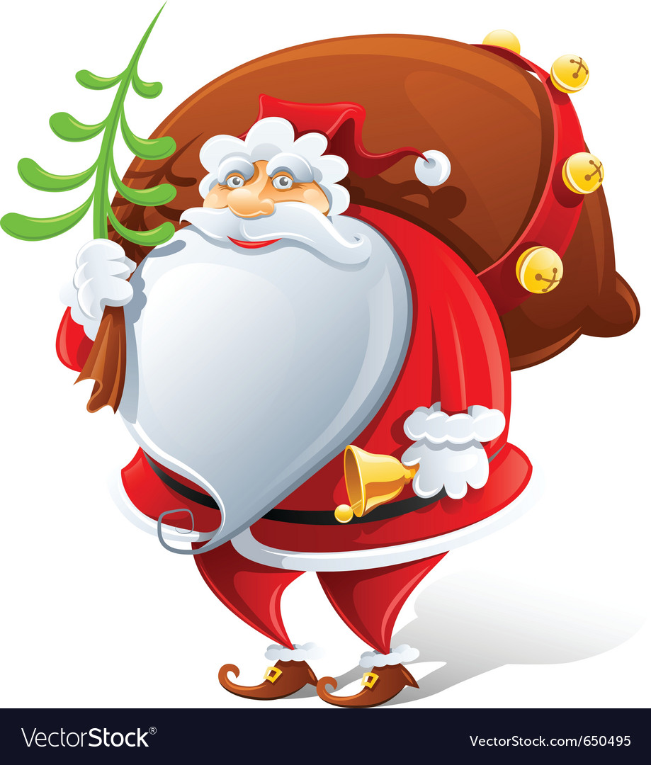 Santa claus with sack and bell vector | Price: 3 Credit (USD $3)