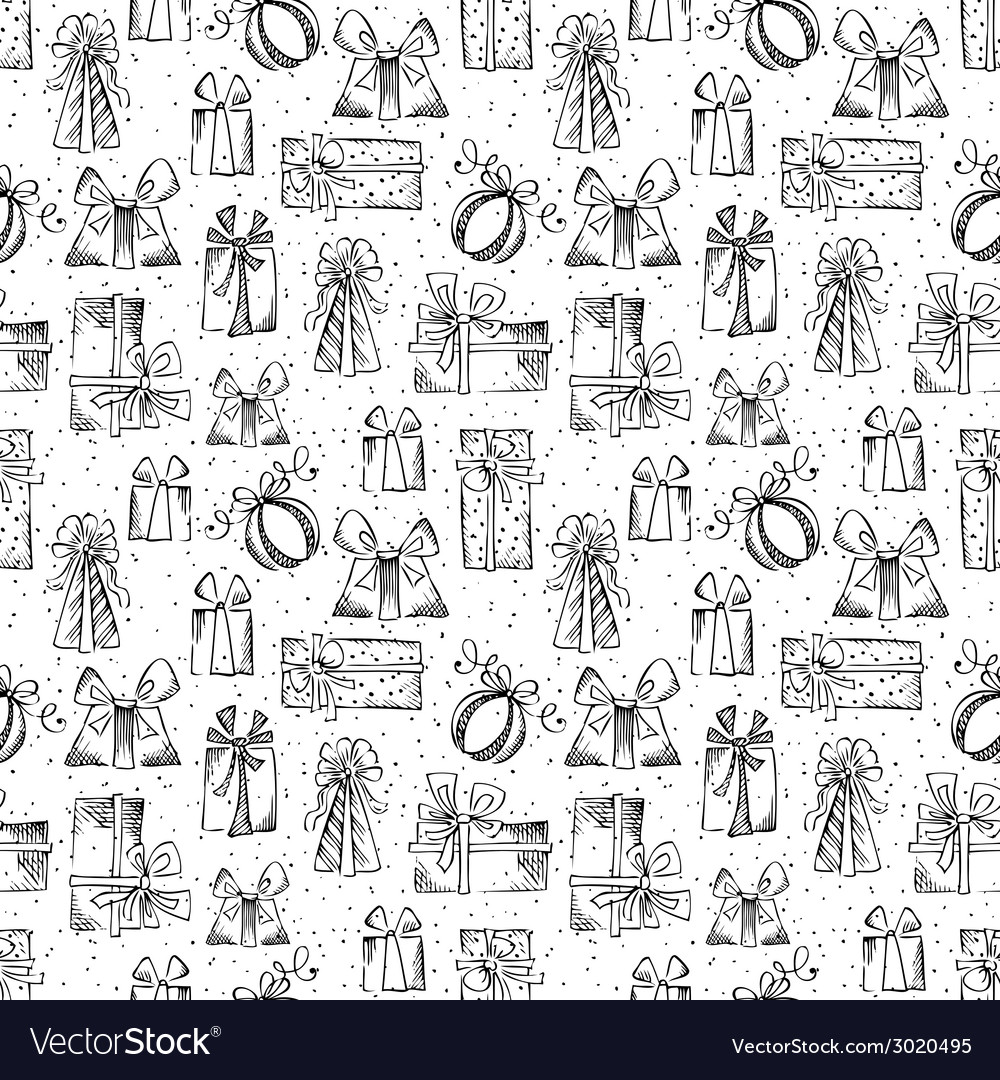 Seamless gifts pattern vector | Price: 1 Credit (USD $1)