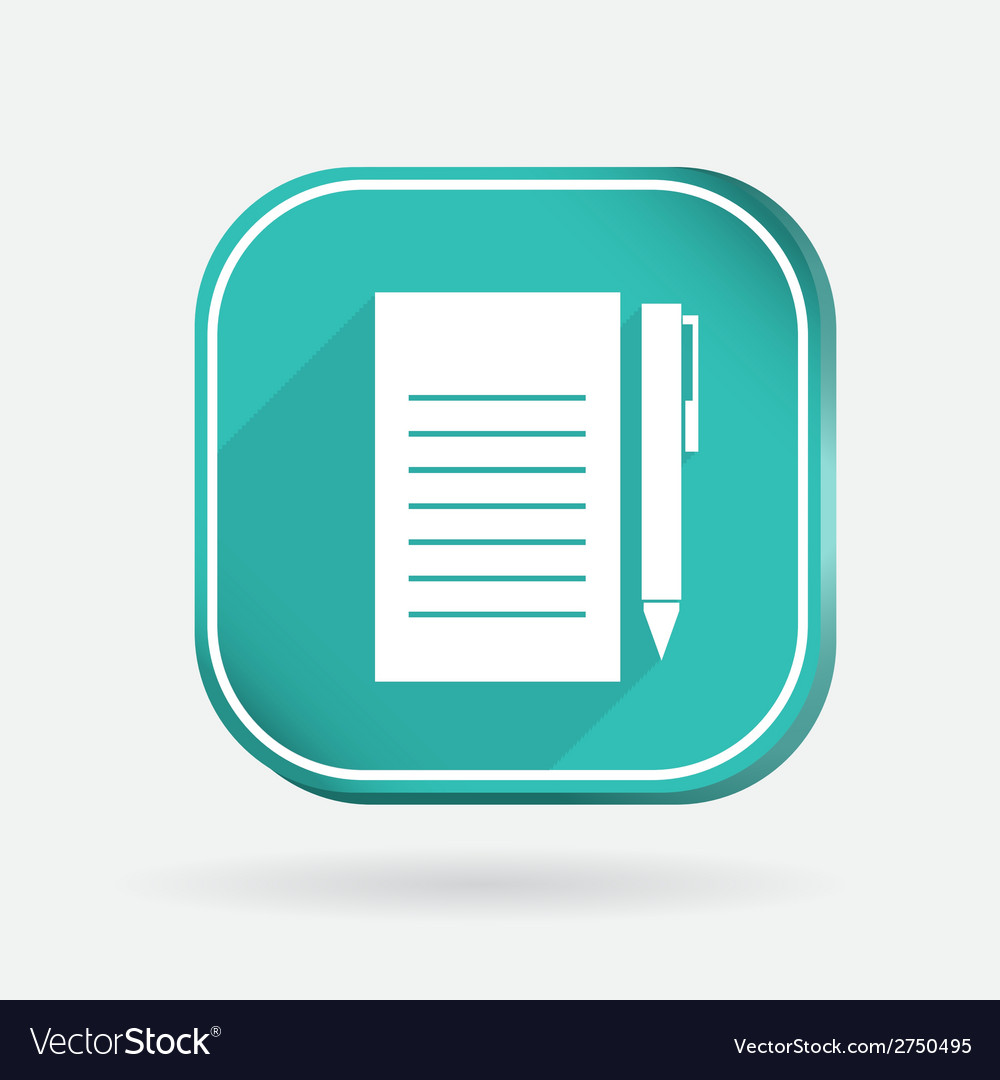 Sheet of paper color square icon vector | Price: 1 Credit (USD $1)