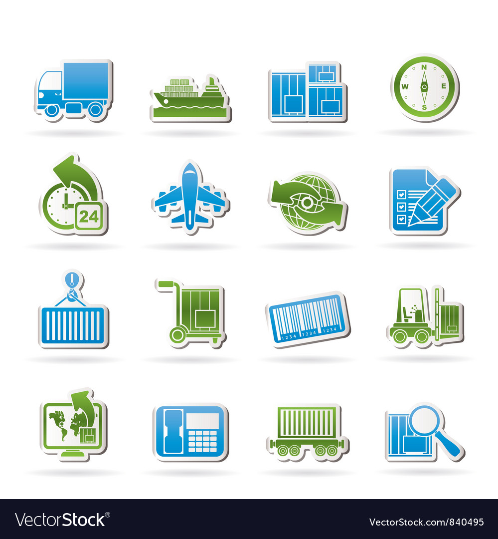 Shipping and logistics icons vector | Price: 1 Credit (USD $1)