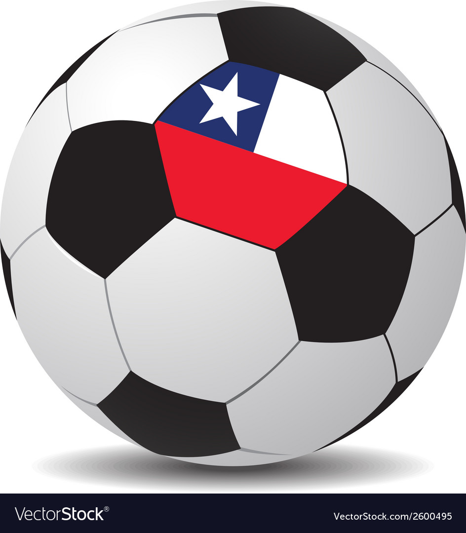 Soccer ball with the flag of chile vector | Price: 1 Credit (USD $1)