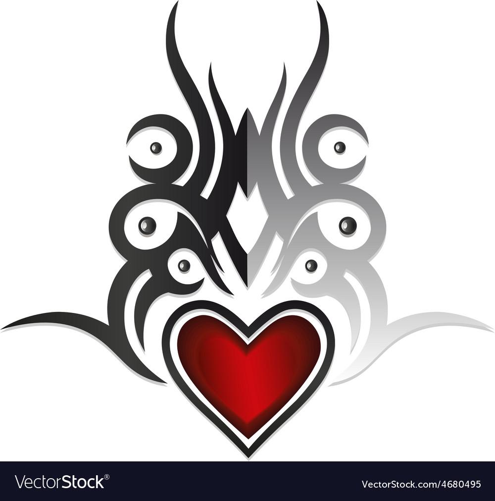 Tattoo heart vector   Price: 1 Credit (USD $1)