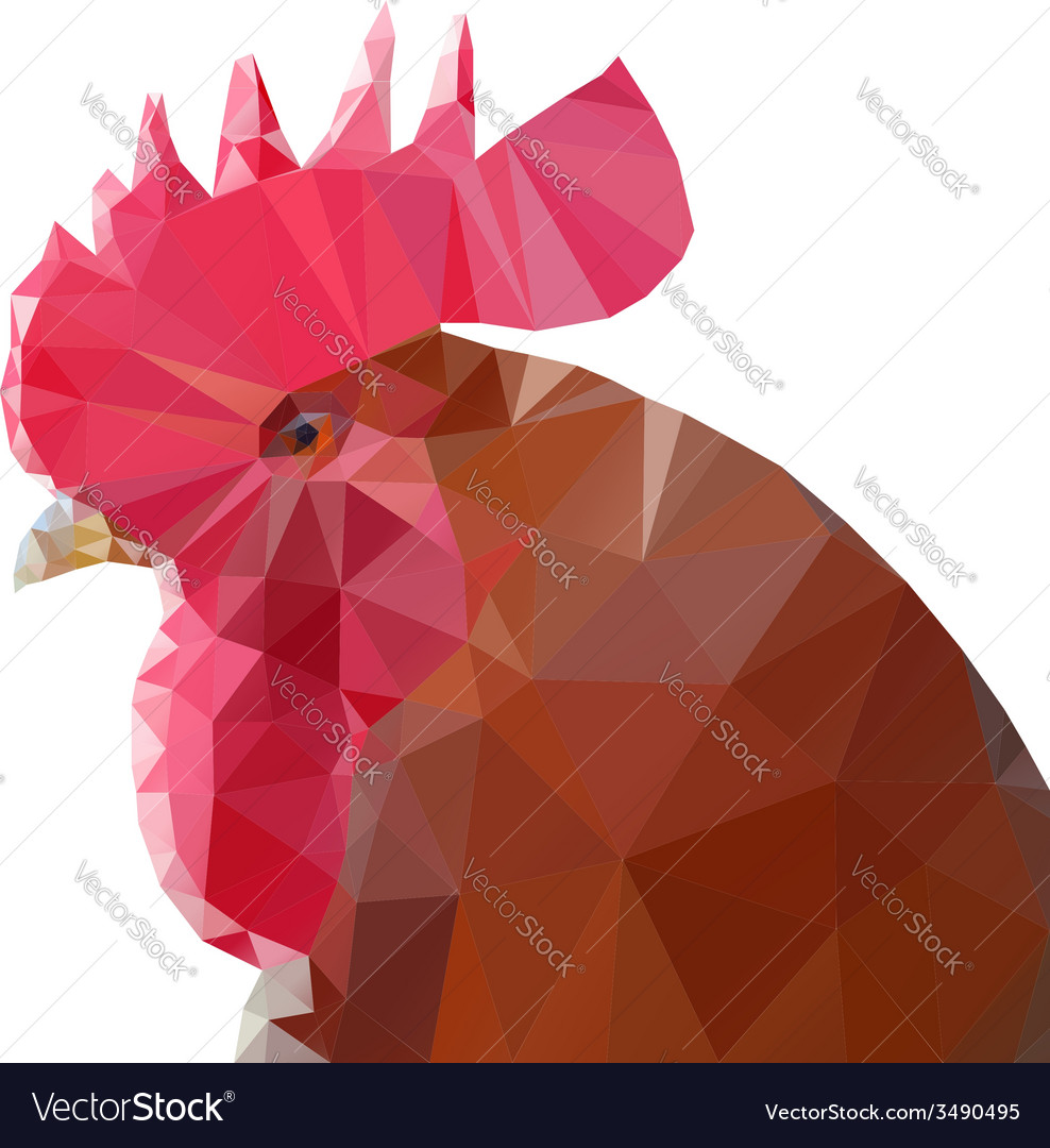 Triangle rooster vector | Price: 1 Credit (USD $1)