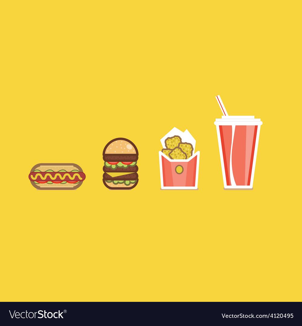Various american food items vector | Price: 1 Credit (USD $1)