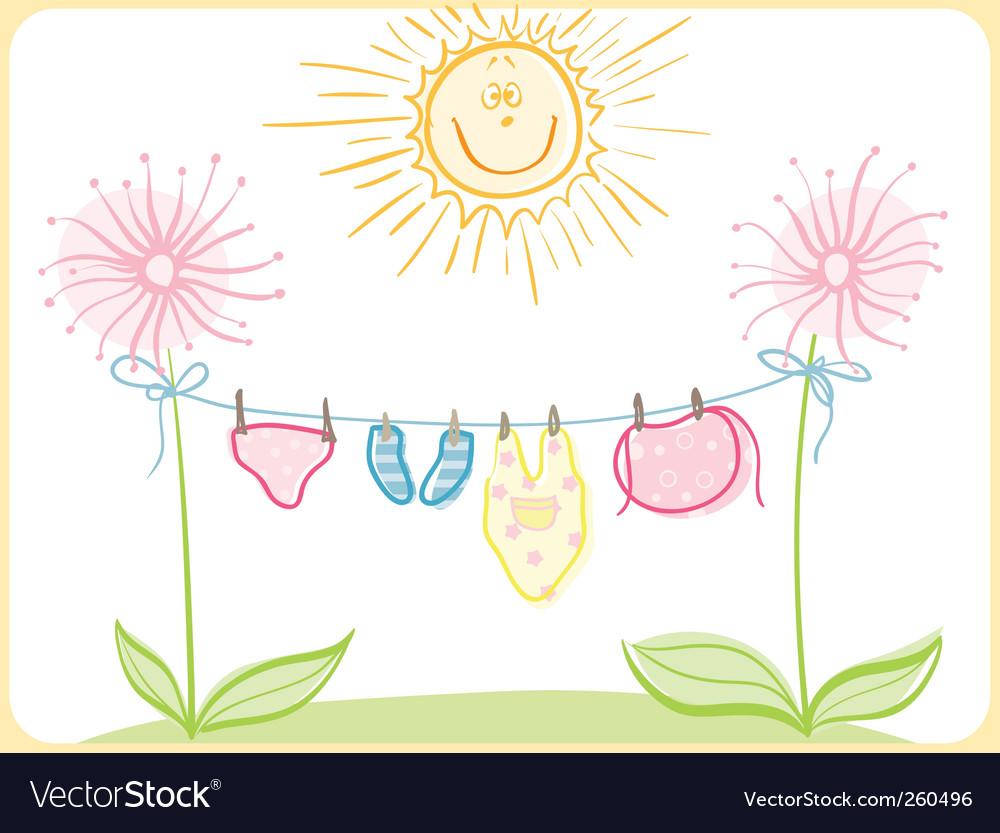Baby clothes vector   Price: 1 Credit (USD $1)