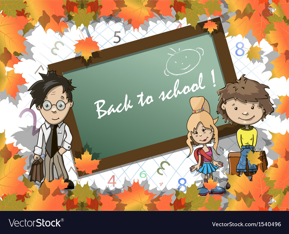 Beginning of the school year vector | Price: 1 Credit (USD $1)