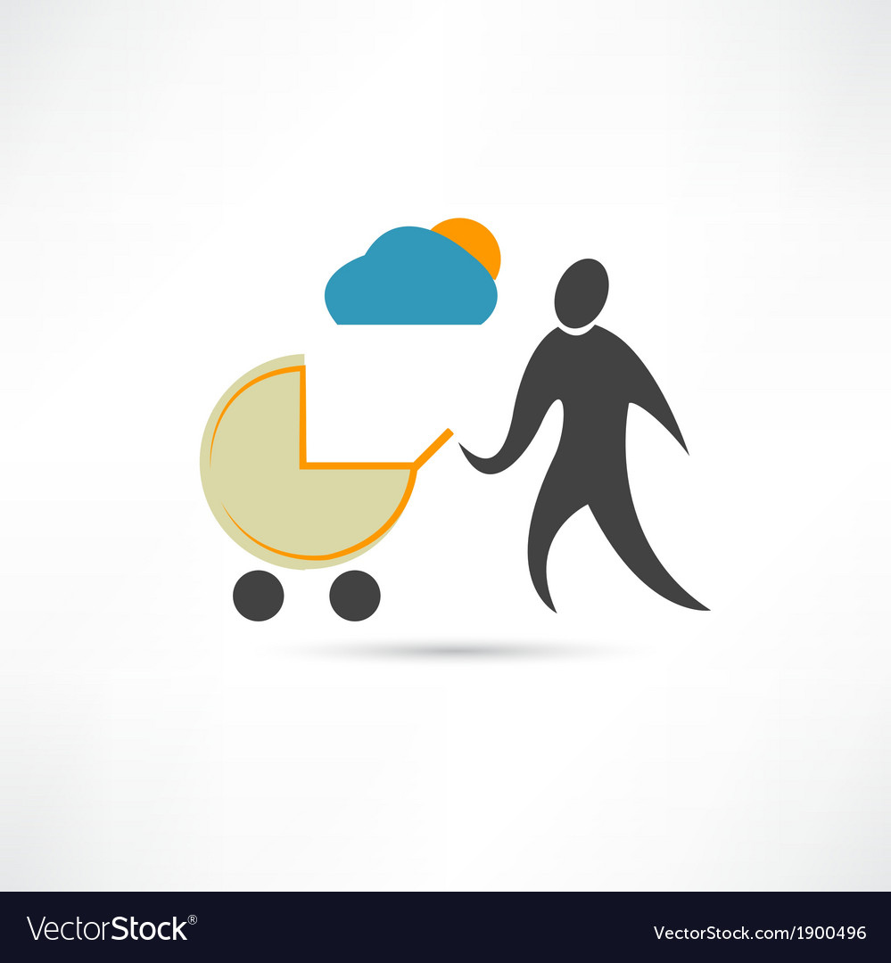 Father with sidecar in good weather icon vector | Price: 1 Credit (USD $1)