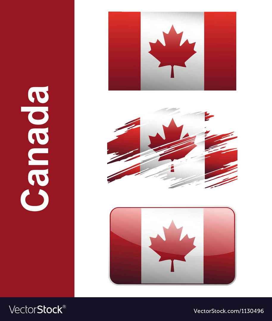 Flag canada vector | Price: 1 Credit (USD $1)