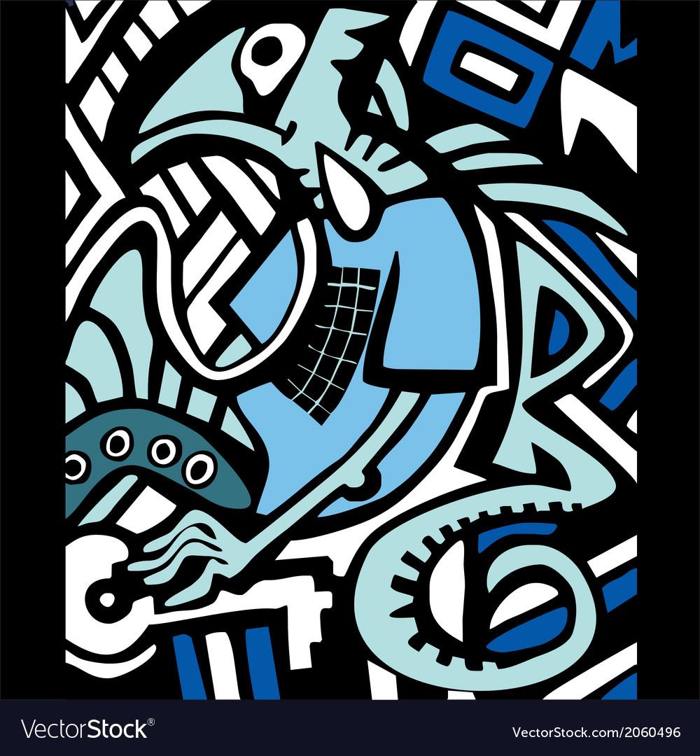 Graffiti sketch with dragon vector | Price: 1 Credit (USD $1)