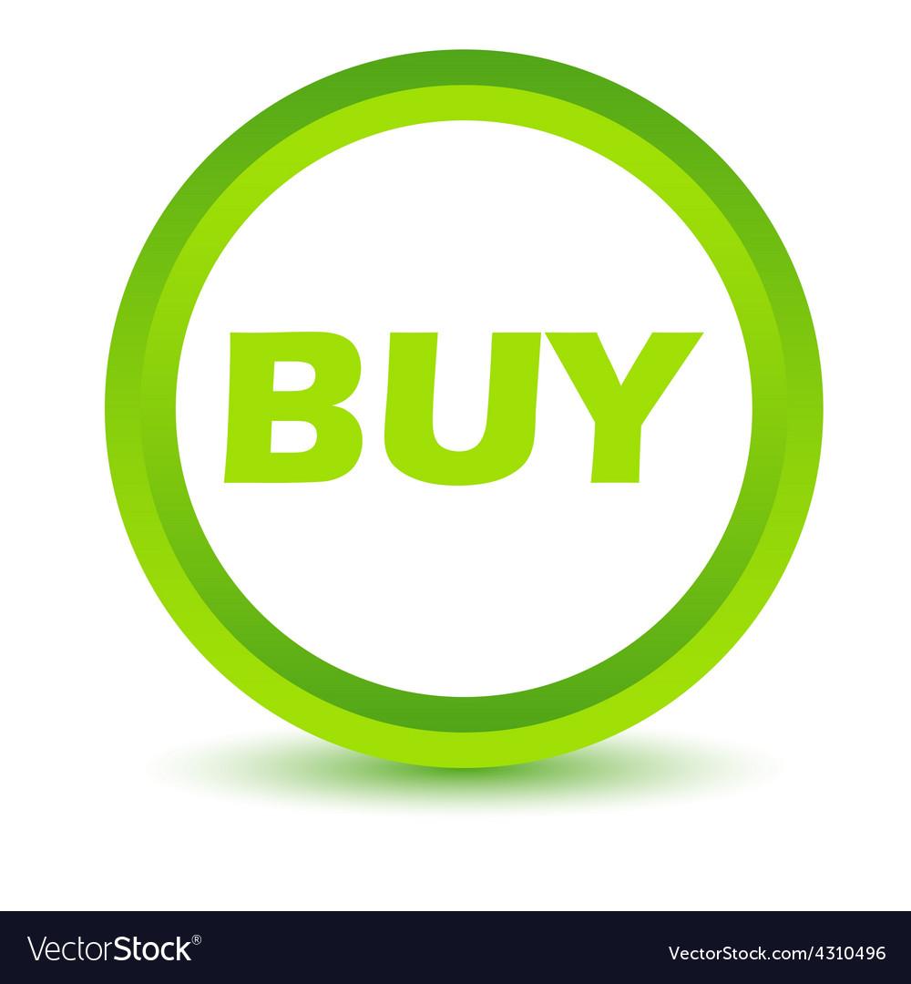 Green buy icon vector | Price: 1 Credit (USD $1)