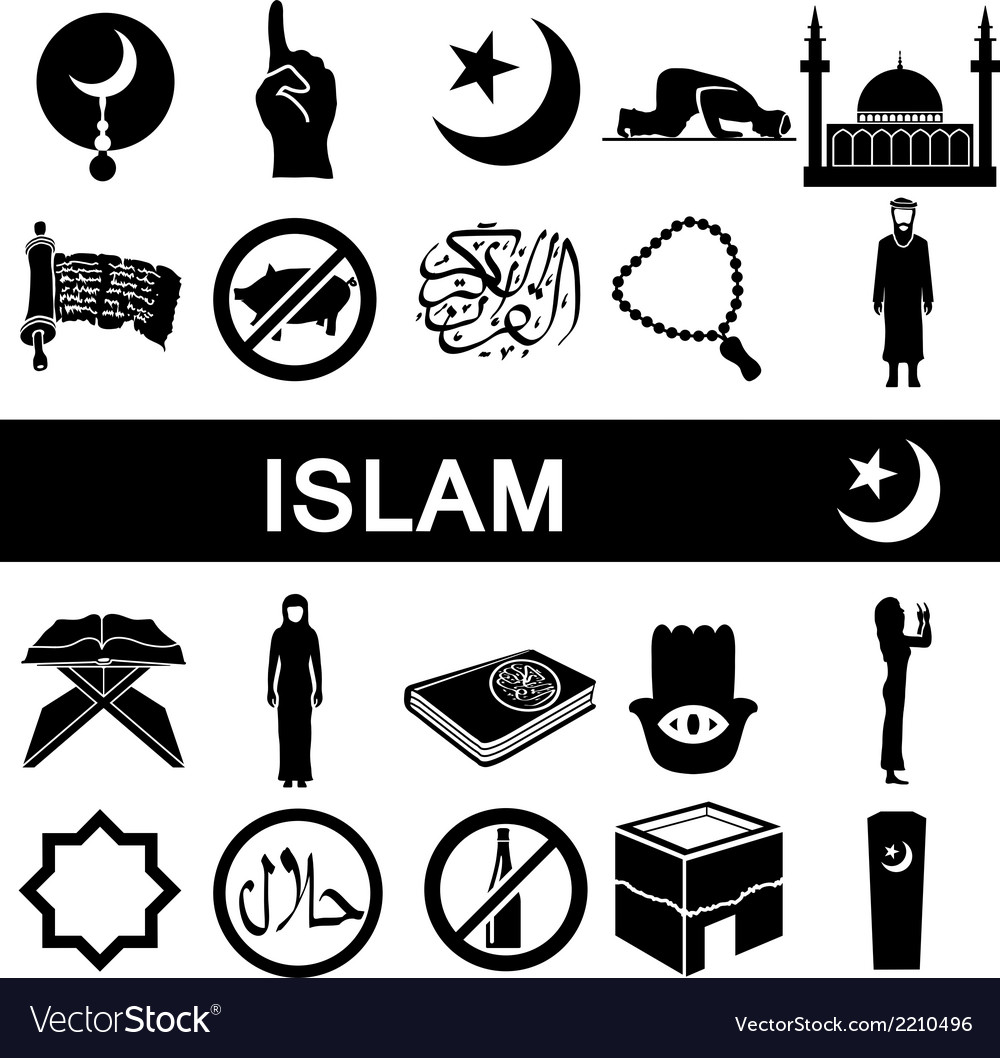 Icons for islam vector | Price: 1 Credit (USD $1)